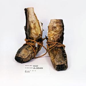 鮭皮で作った靴